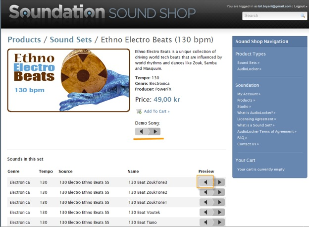 Soundation — Learn | How-to: Use the Sound Shop